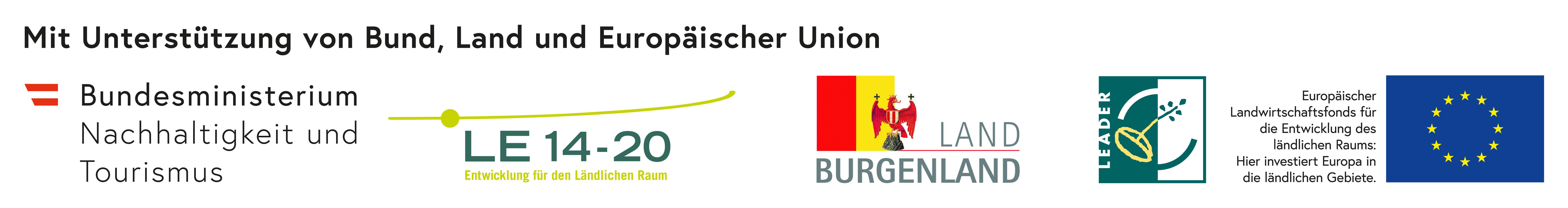 Mit Unterstützung von Bund, Land und Europäischer Uniuon